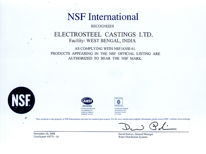 NSF (USA) Approval